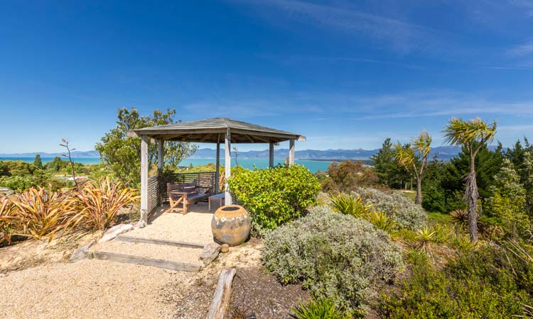 Enjoy the Kahurangi mountain views from the gazebo